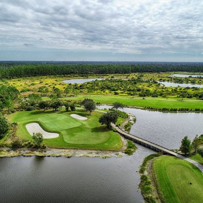 aerial as built survey of golf courses